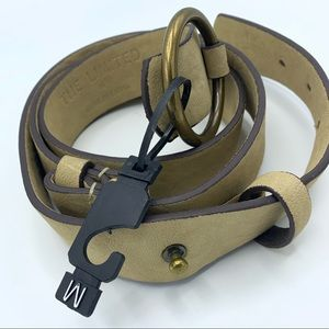 NWOT The Limited Md Faux Leather Single Ring Belt
